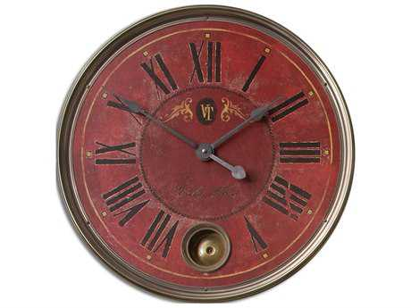 Uttermost Regency Villa Tesio 23 inch Red Wall Clock