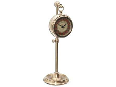Uttermost Pocket Watch Brass Thuret Clock