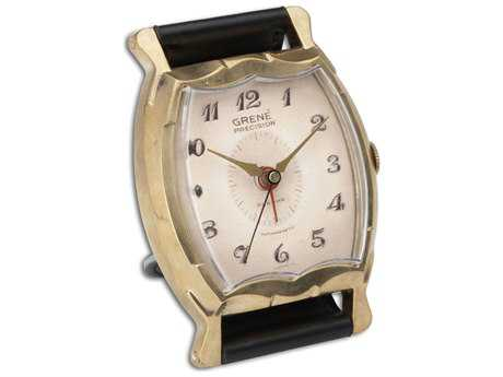 Uttermost Wristwatch Alarm Square Grene Clock