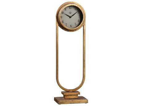 Uttermost Alard Gold Table Top Clock