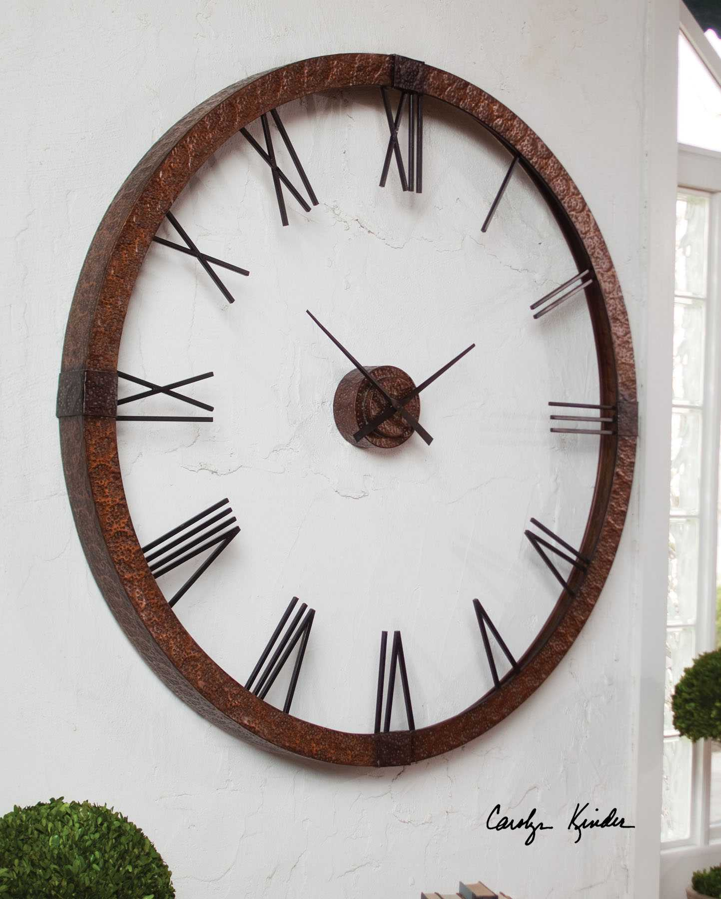 Uttermost Amarion 60 Inch Copper Wall Clock Ut06655