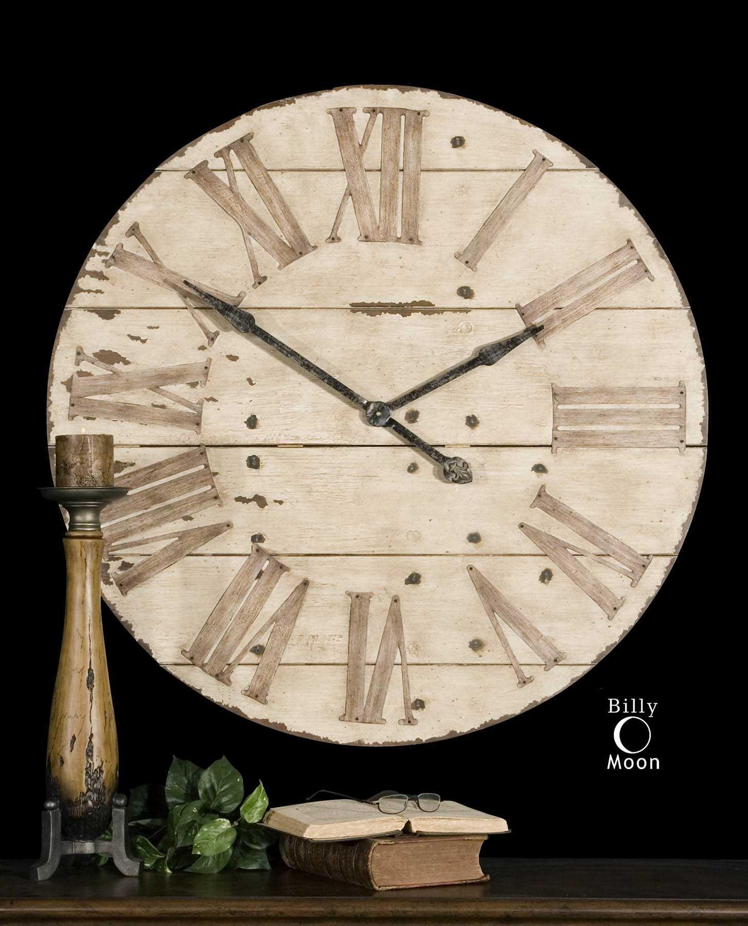 Uttermost Harrington 36 Inch Wooden Wall Clock Ut06671