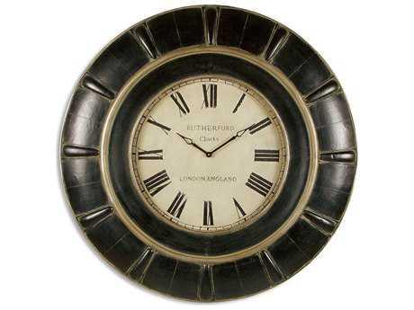 Uttermost Rustic Black Rudy Clock