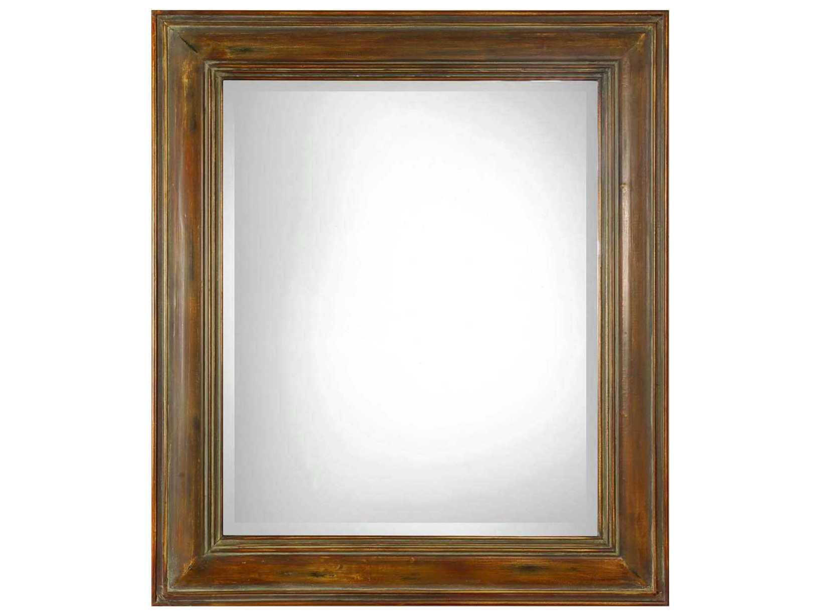 Uttermost darian dark brown gold undertones 36 39 39 w x 42 for Mirror 42 x 36