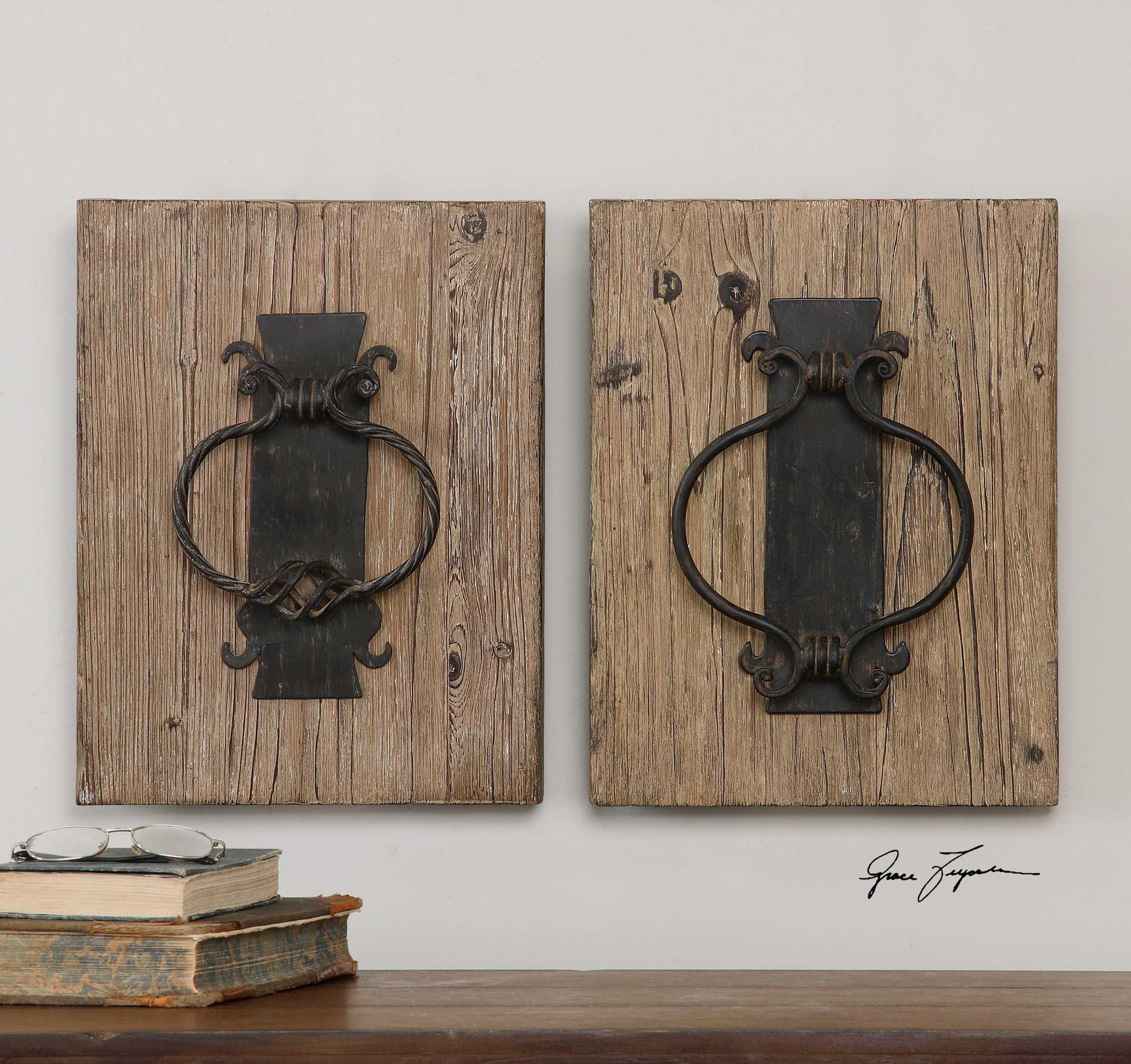 Uttermost Rustic Door Knockers 2 Piece Wall Art Ut07654