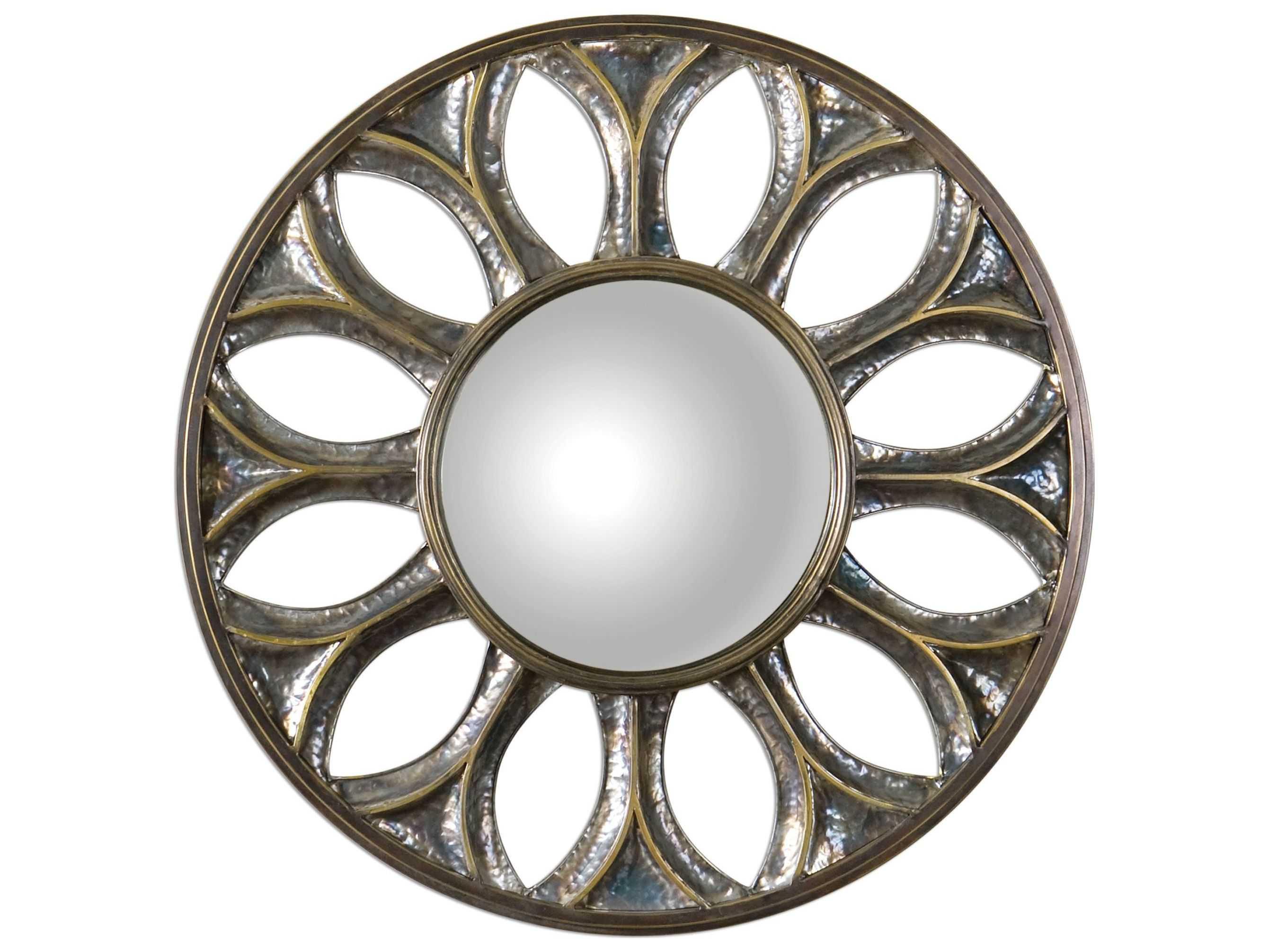 Bronze Wall Mirror: Uttermost Yenisey 36 Round Bronze Wall Mirror