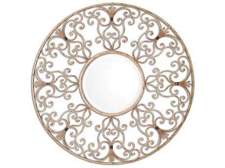 Uttermost Santena 39 Round Metal Wall Mirror