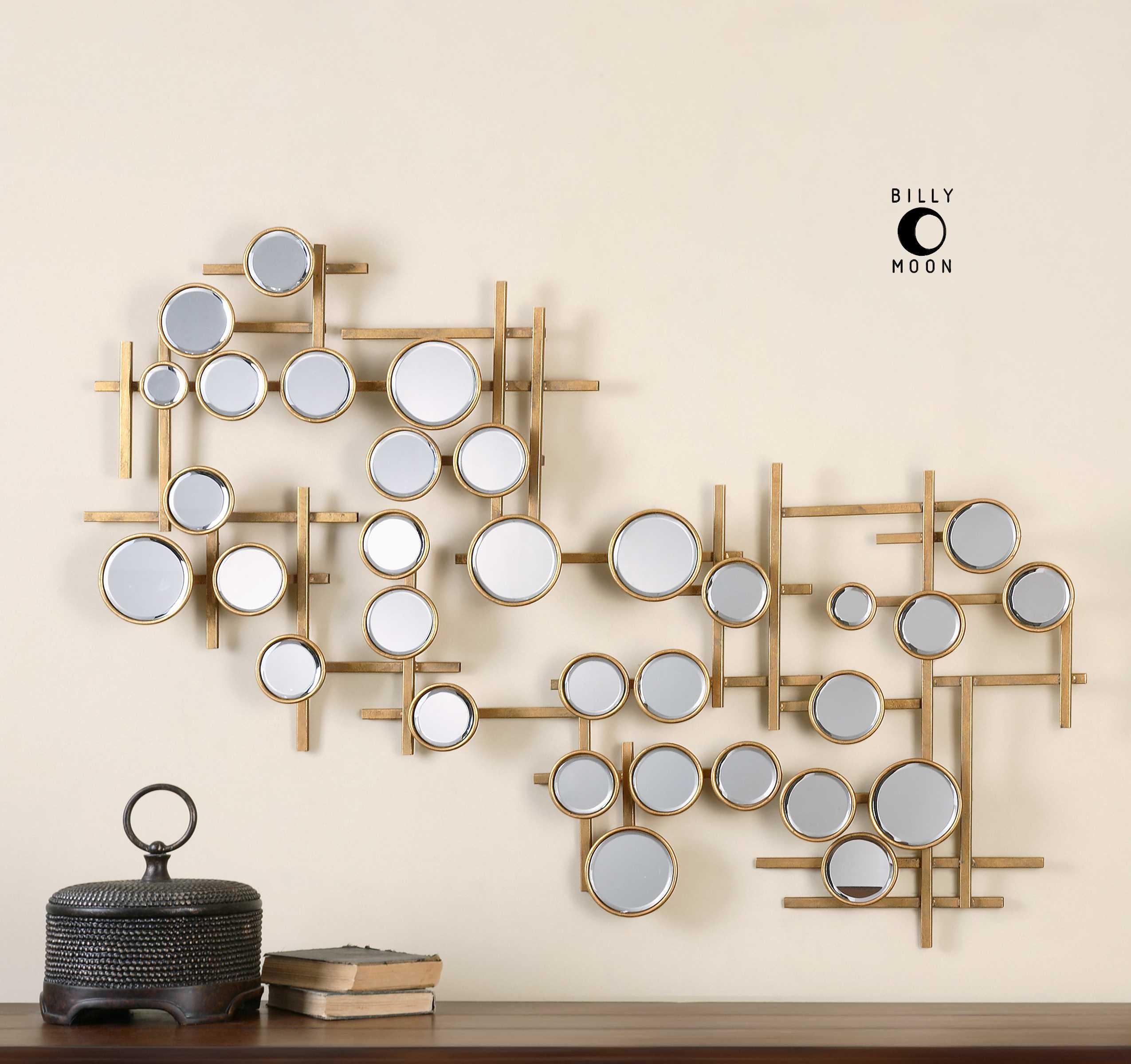 uttermost britton mirrored wall art ut08138. Black Bedroom Furniture Sets. Home Design Ideas