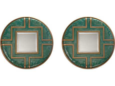 Uttermost Amina Round Mirrors (Set of Two)