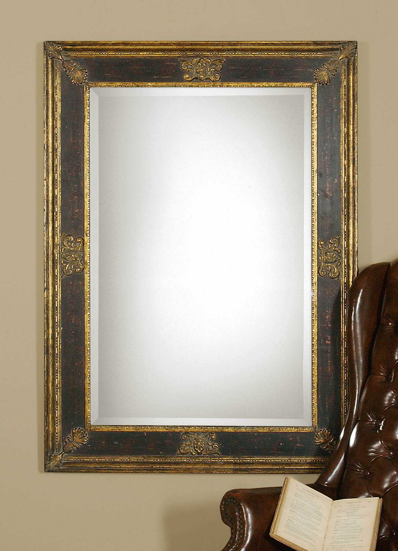 Uttermost Cadence 34 X 46 Small Antique Gold Wall Mirror