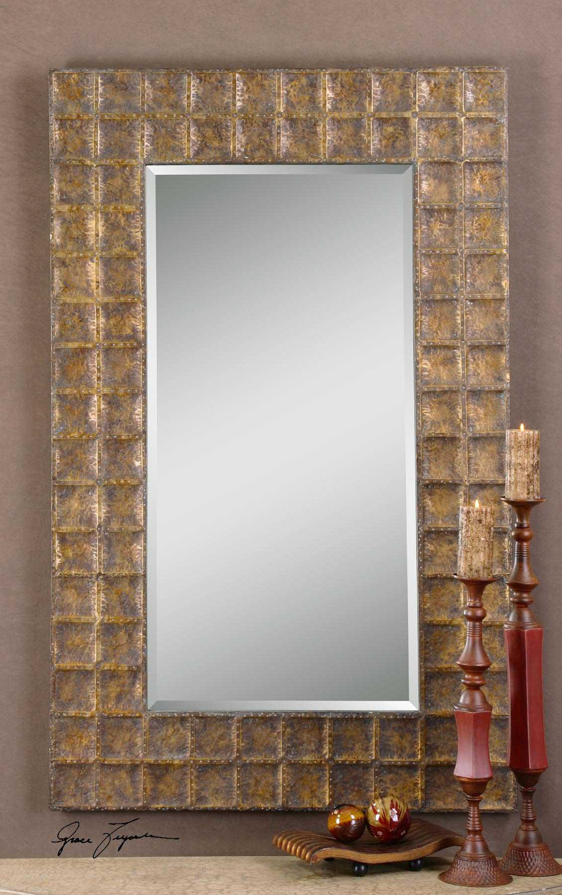 Uttermost Gavino 42 X 67 Antique Gold Wall Mirror Ut12643b