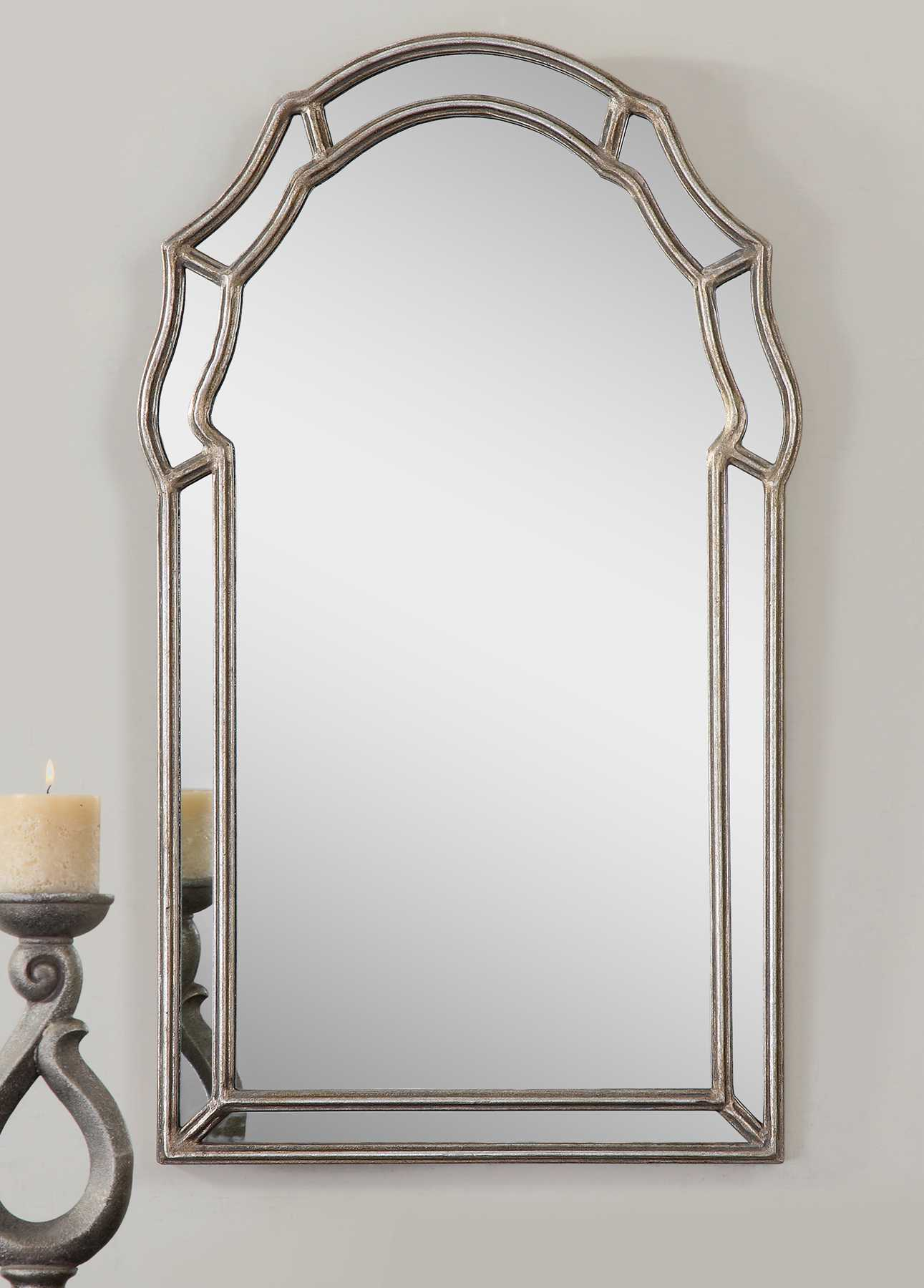 Uttermost Petrizzi 21 X 35 Decorative Arched Wall Mirror