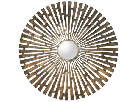 Uttermost Tremeca 45 Round Brass Starburst Wall Mirror