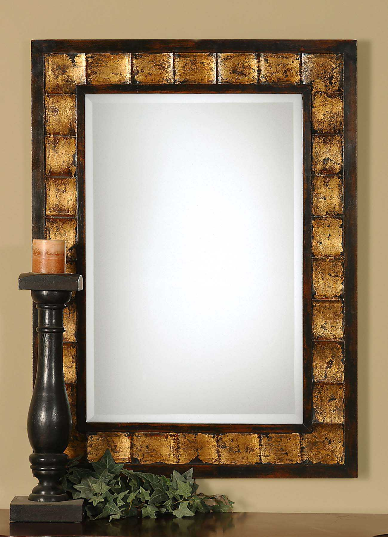 Uttermost Justus 28 X 38 Decorative Gold Wall Mirror