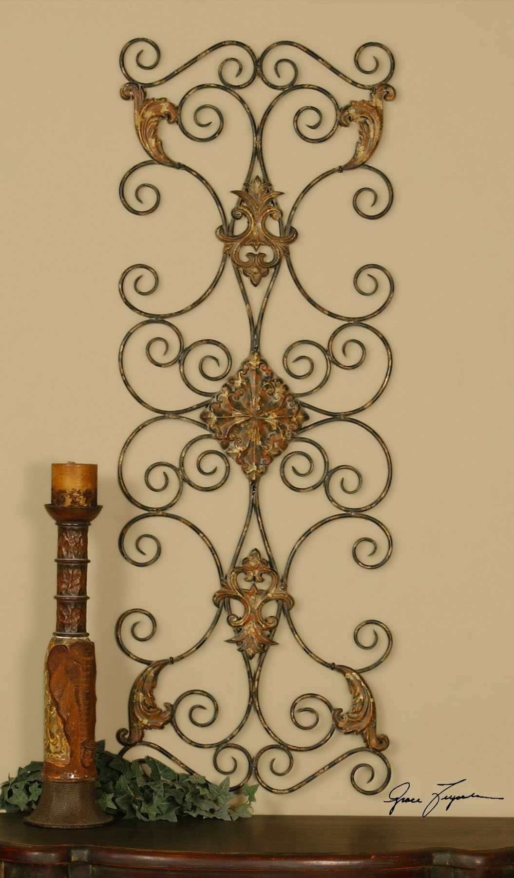 Uttermost Metal Wall Decor : Uttermost fayola metal wall art ut