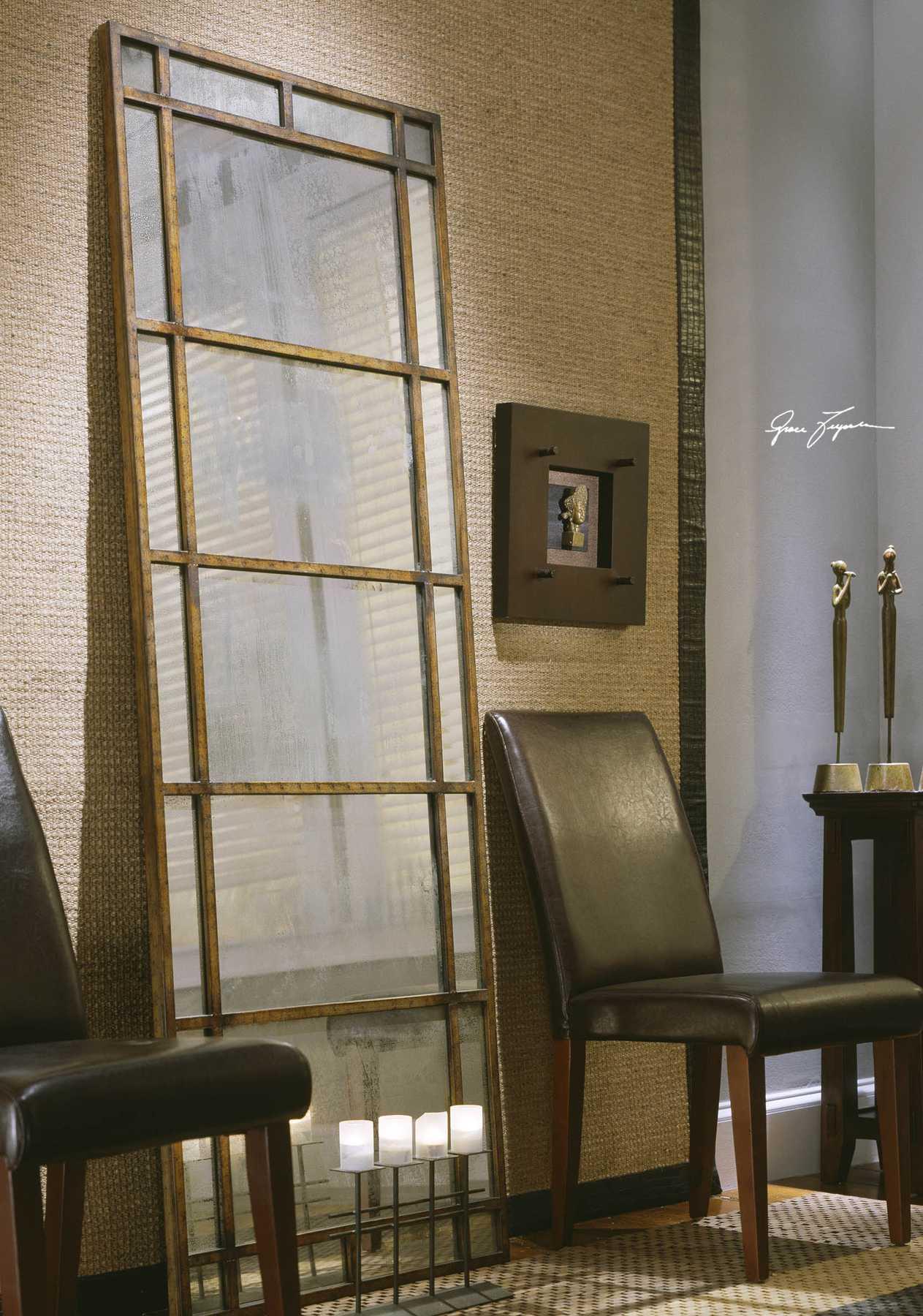 Uttermost Avidan 29 x 79 Antique Gold Floor Mirror | UT13332P