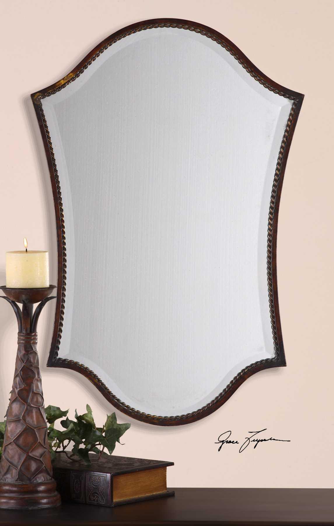 Uttermost abra 20 x 30 bronze vanity wall mirror ut13584b for Mirror 20 x 30