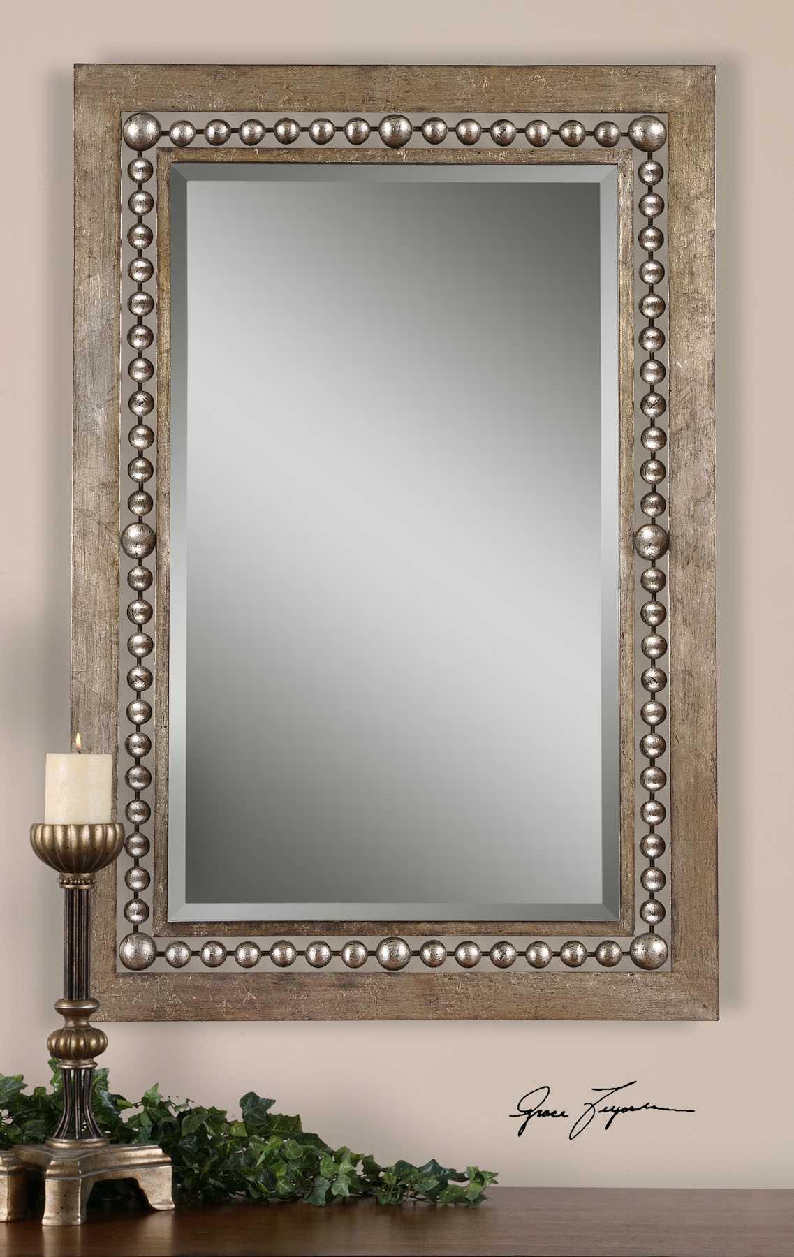 Uttermost Fidda 33 X 49 Antique Silver Wall Mirror Ut13724