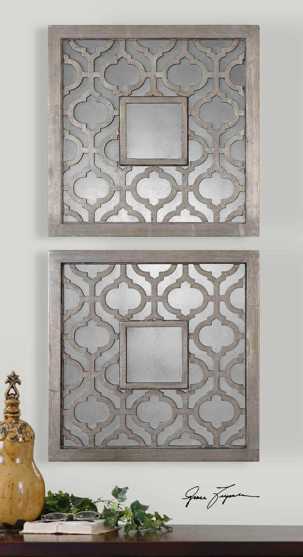 Uttermost Sorbolo 20 x 20 Squares Decorative Wall Mirrors ... on Wall Mirrors Decorative id=67933