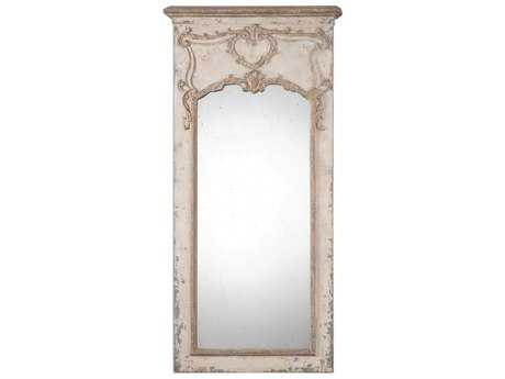 Uttermost Carlazzo 31 x 62 Rectangular Antiqued White Wall Mirror