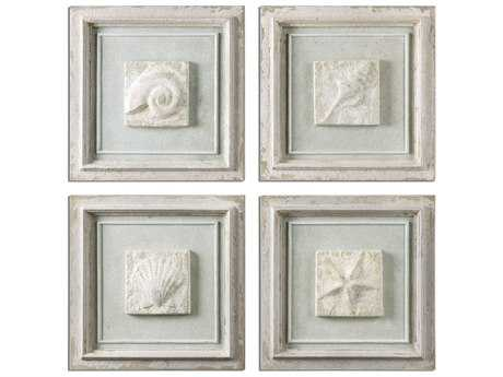 Uttermost Matira Stone Wall Art (Set of 4)