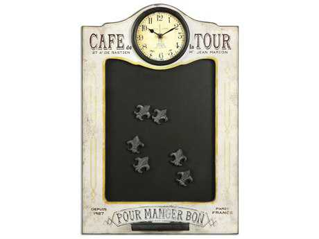 Uttermost Cafe De La Tour Chalkboard & Clock