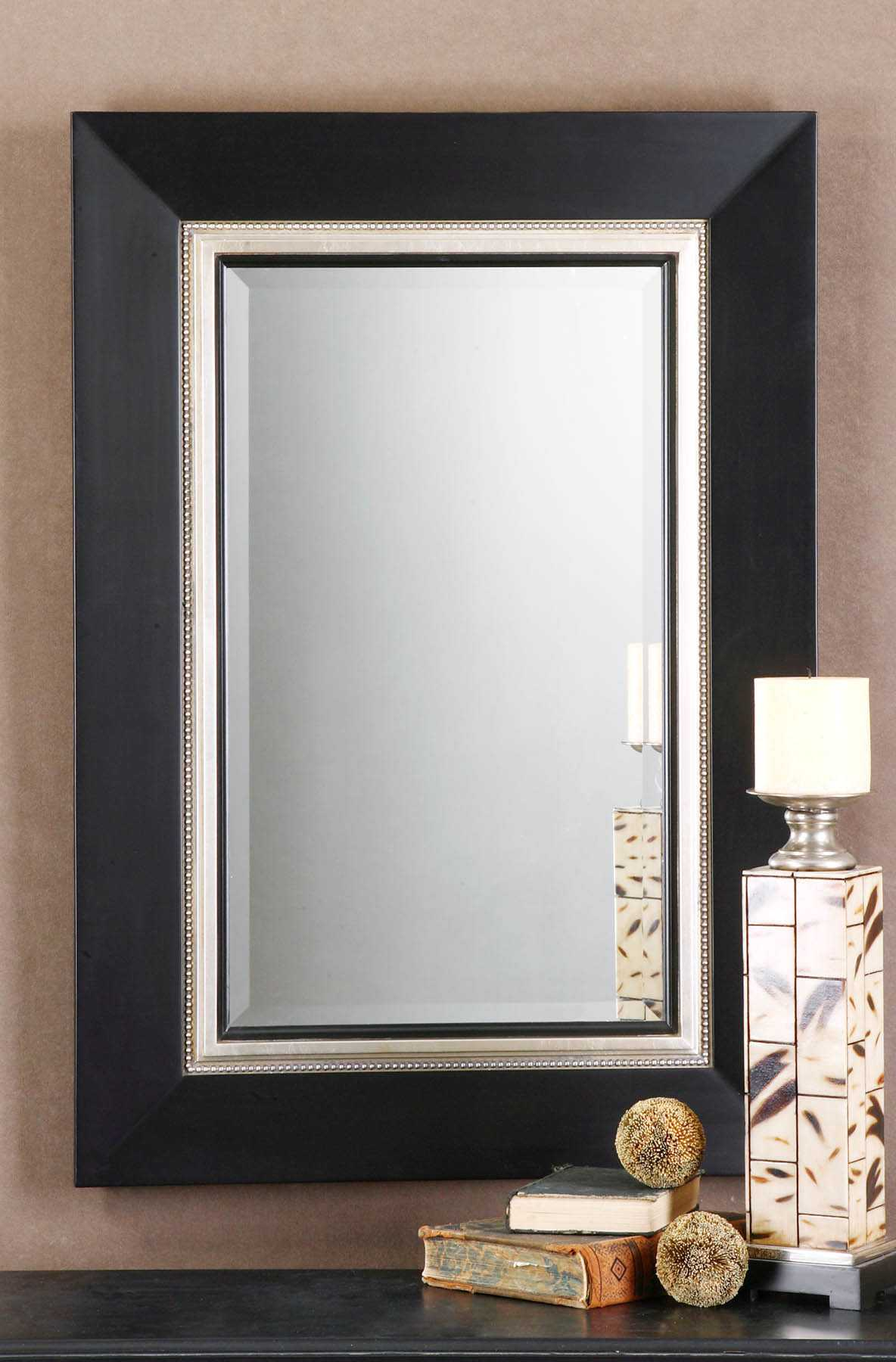 Uttermost Whitmore 30 X 40 Black Vanity Wall Mirror Ut14153b