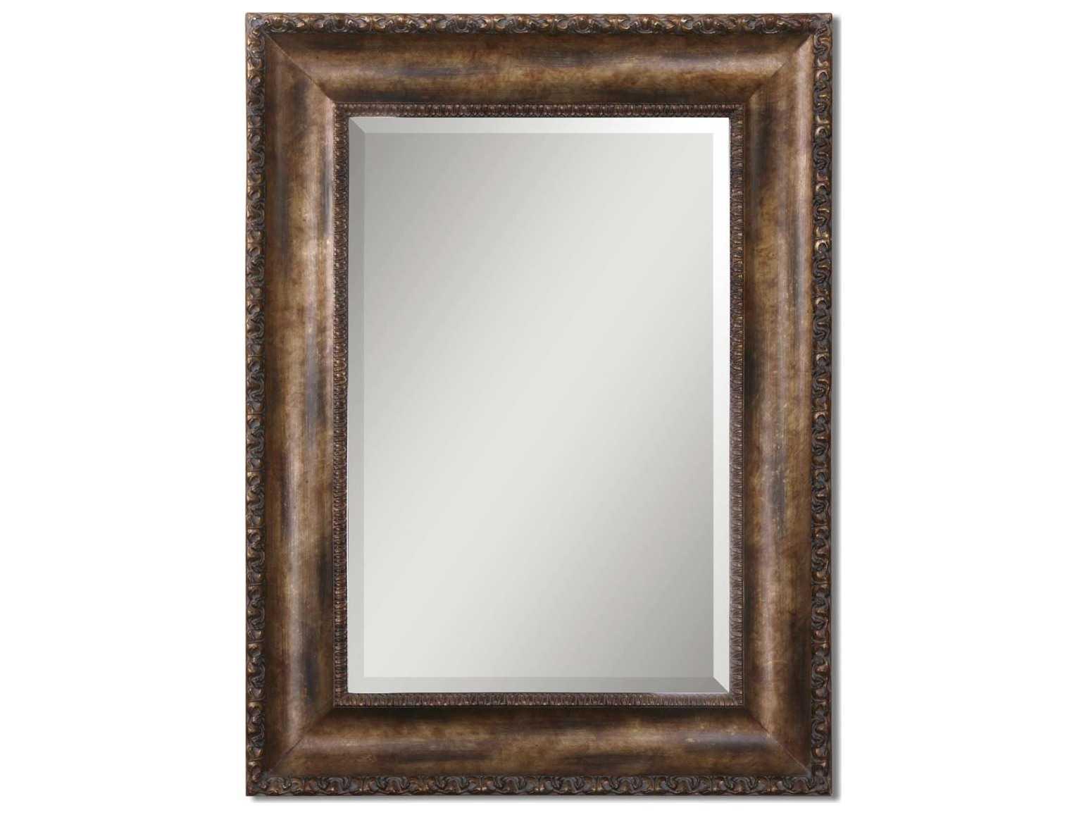 Uttermost leola 36 x 48 antique bronze wall mirror ut14441b for Mirror 48 x 36
