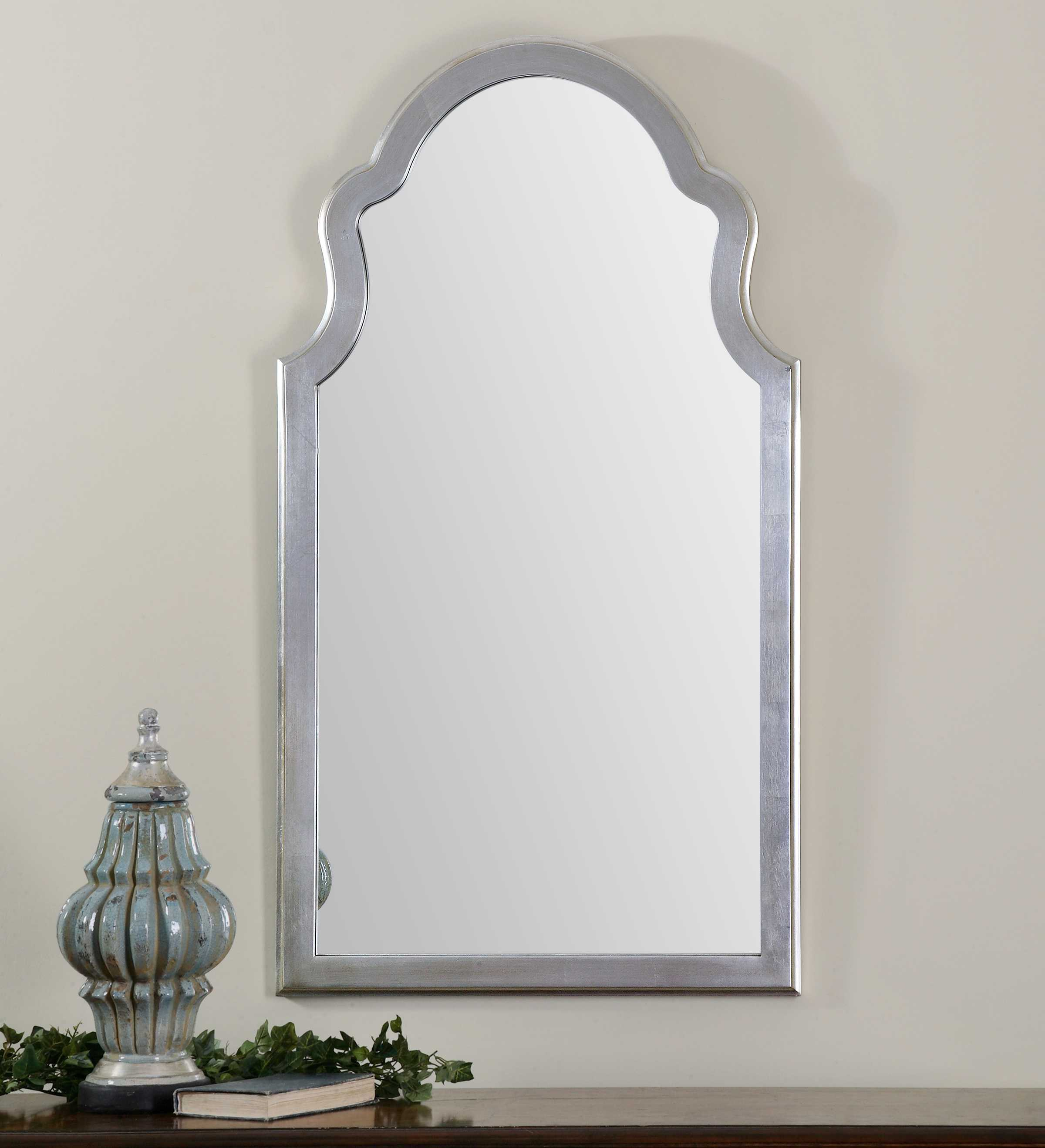 Uttermost Brayden 27 X 48 Arched Silver Wall Mirror Ut14479