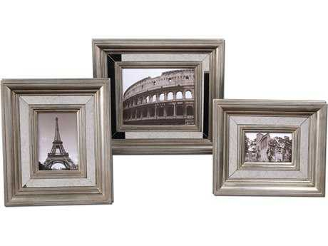 Uttermost Hasana Antique Silver Photo Frame (Set of 3)