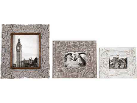 Uttermost Askan Wood Photo Frames (3 Piece Set)