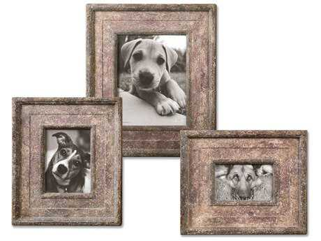 Uttermost Zana Red Distressed Photo Frames (3 Piece Set)