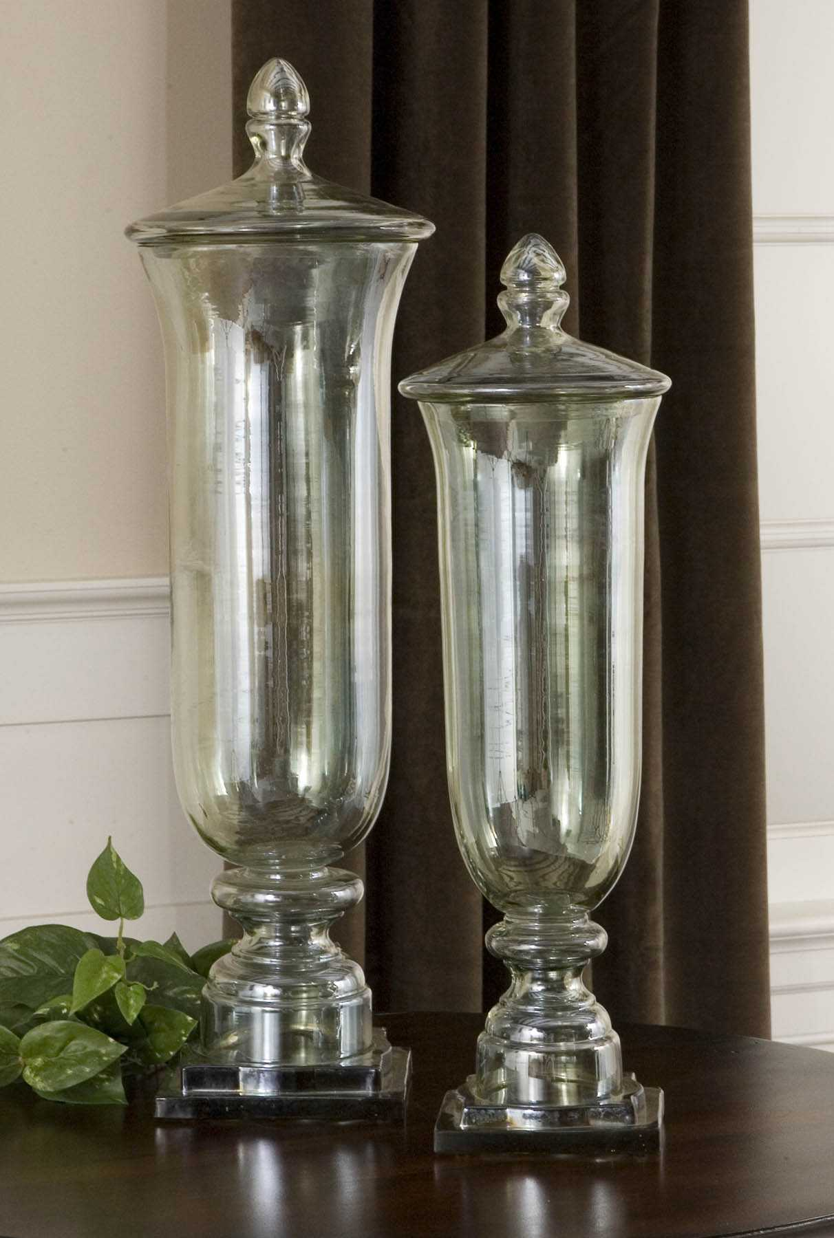 Uttermost Gilli Glass Decorative Containers 2 Piece Set