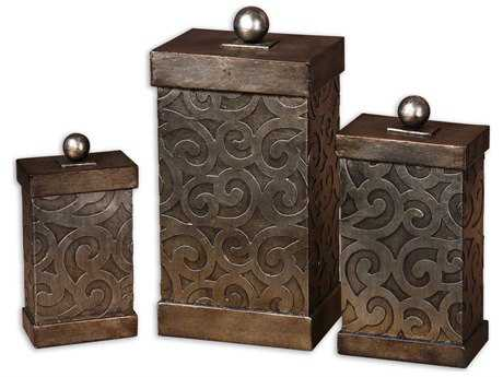 Uttermost Nera Metal Decorative Boxes (Set of 3)