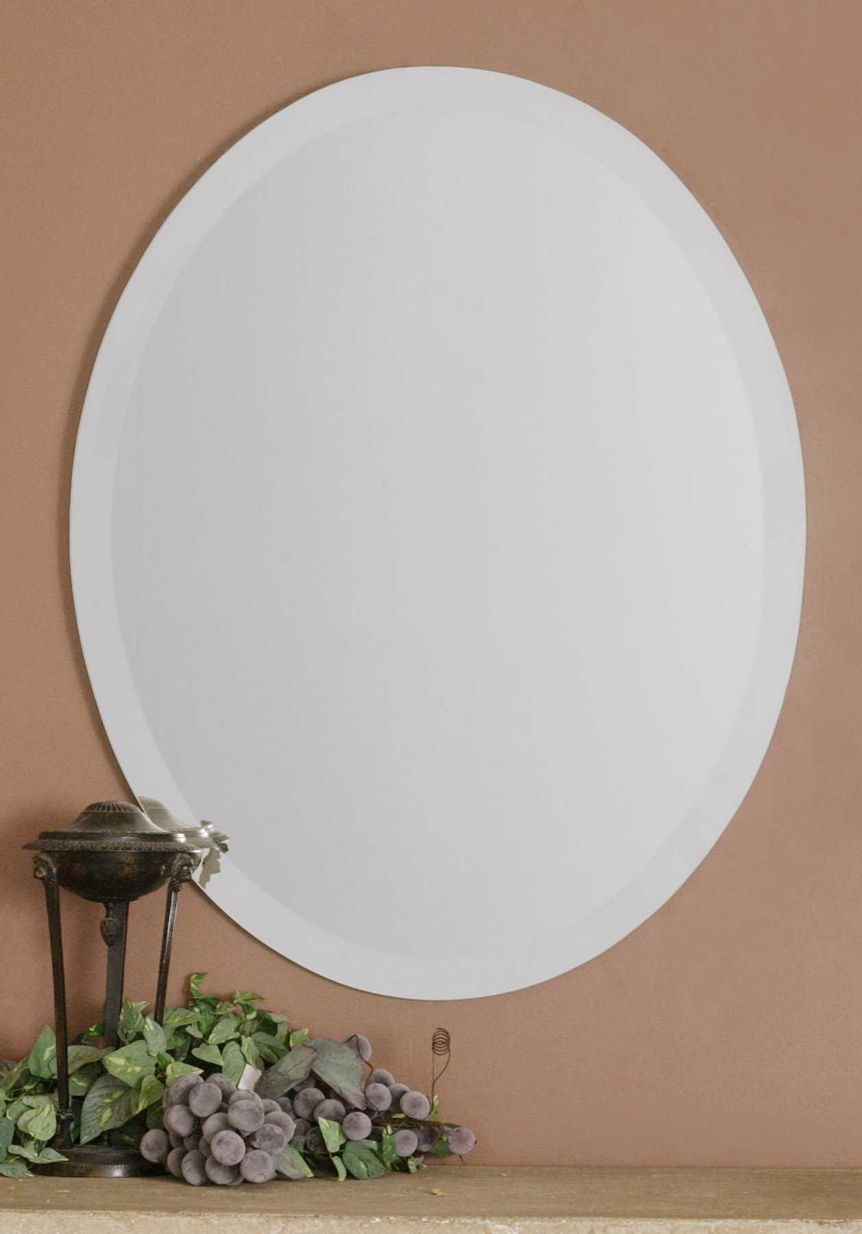Uttermost Frameless 22 X 28 Vanity Oval Wall Mirror Ut19580b
