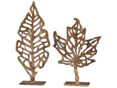 Uttermost Hazuki Metal Sculpture (2 Piece Set)