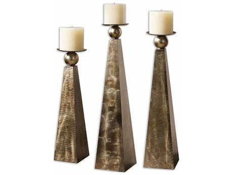 Uttermost Cesano Bronze Candle Holder (3 Piece Set)
