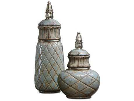 Uttermost Deniz Sea Foam Ceramic Containers (2 Piece Set)