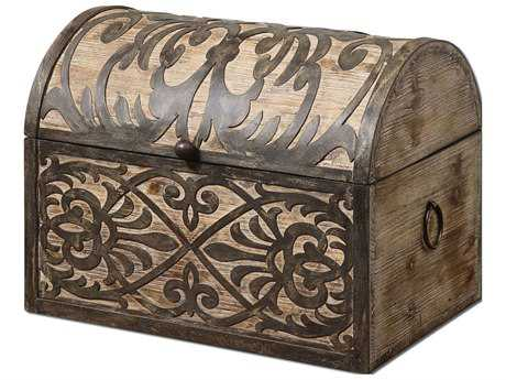 Uttermost Abelardo Rustic Wooden Box Decor Accessories