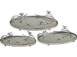 Uttermost Birds On A Limb Mirrored Trays (3 Piece Set)