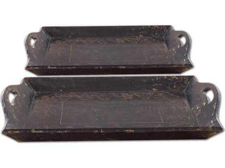 Uttermost Melani Antique Trays (2 Piece Set)