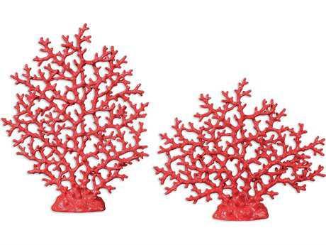 Uttermost Red Coral Sculpture (2 Piece Set)