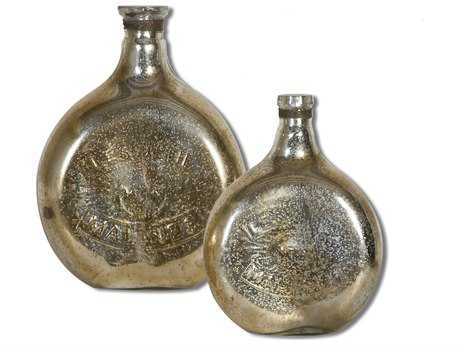 Uttermost Euryl Mercury Glass Vases (2 Piece Set)