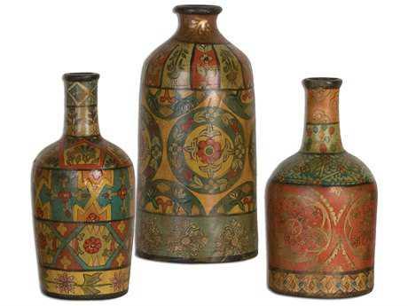 Uttermost Sachi Terracotta Vases (3 Piece Set)