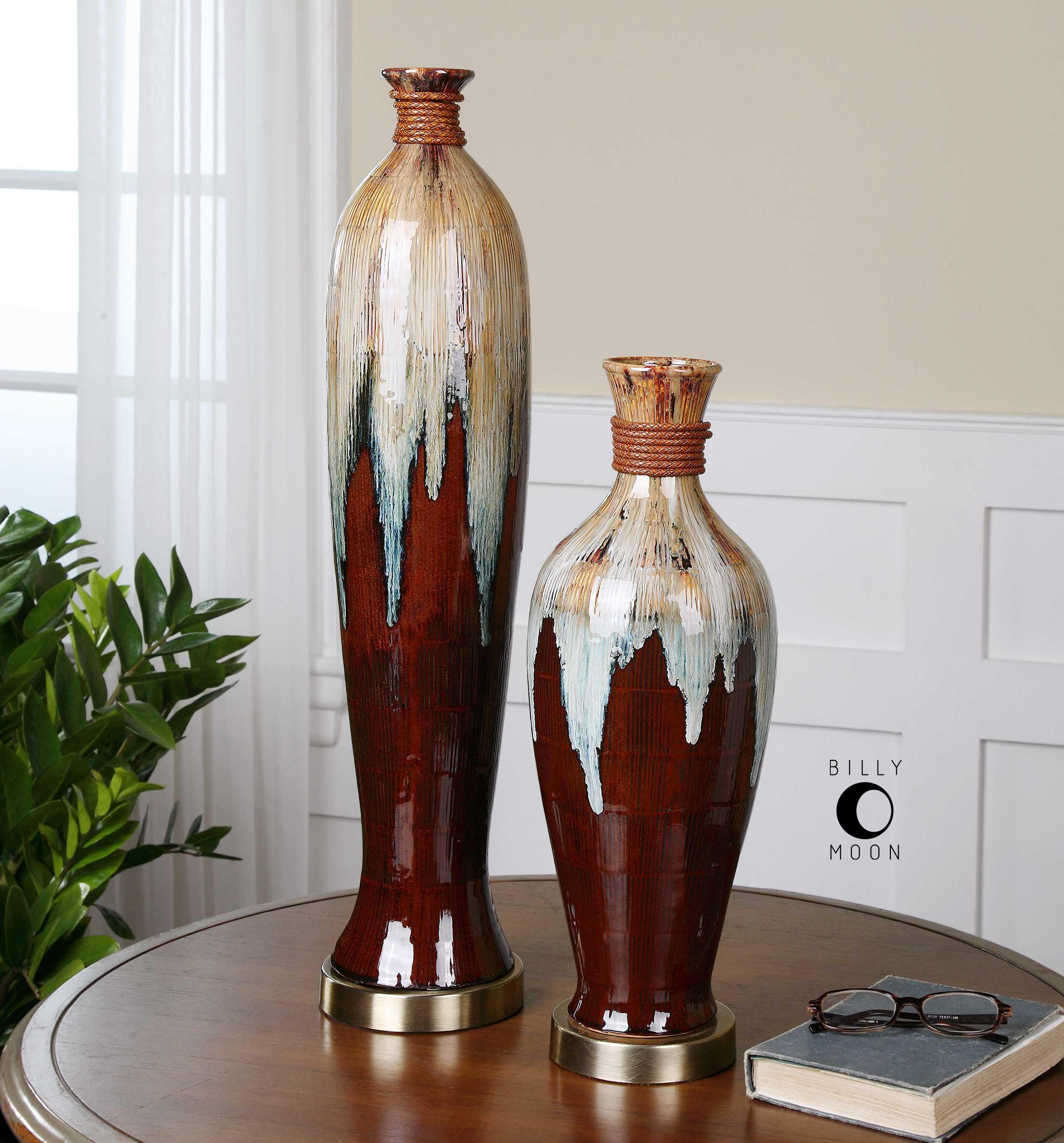 Uttermost aegis ceramic vase 2 piece set ut19844 - Como decorar jarrones ...