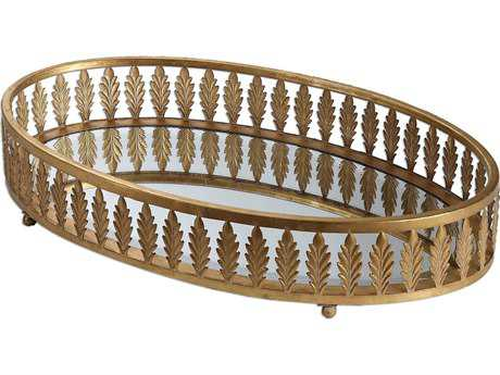 Uttermost Bevan Gold Oval Serving Tray