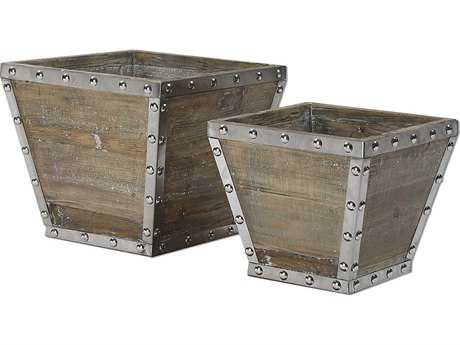 Uttermost Birtle Wood Containers (Set of Two)