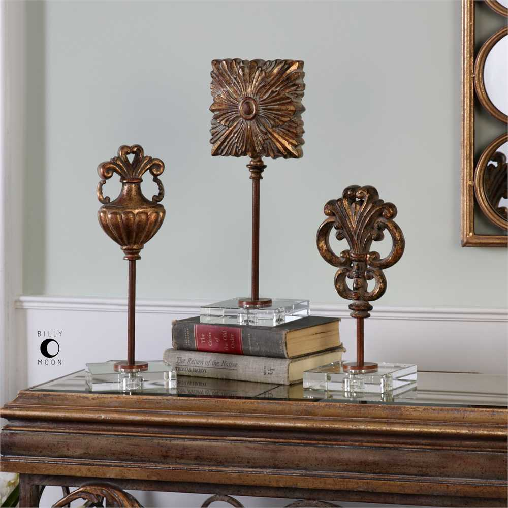 Decorative Accents For Home: Uttermost Cesare Gold Decorative Table Top Accessories