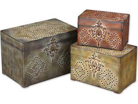 Uttermost Hobnail Weathered Box (3 Piece Set)