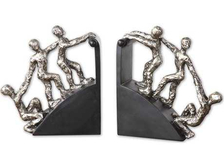 Uttermost Helping Hand Nickel Bookends (2 Piece Set)